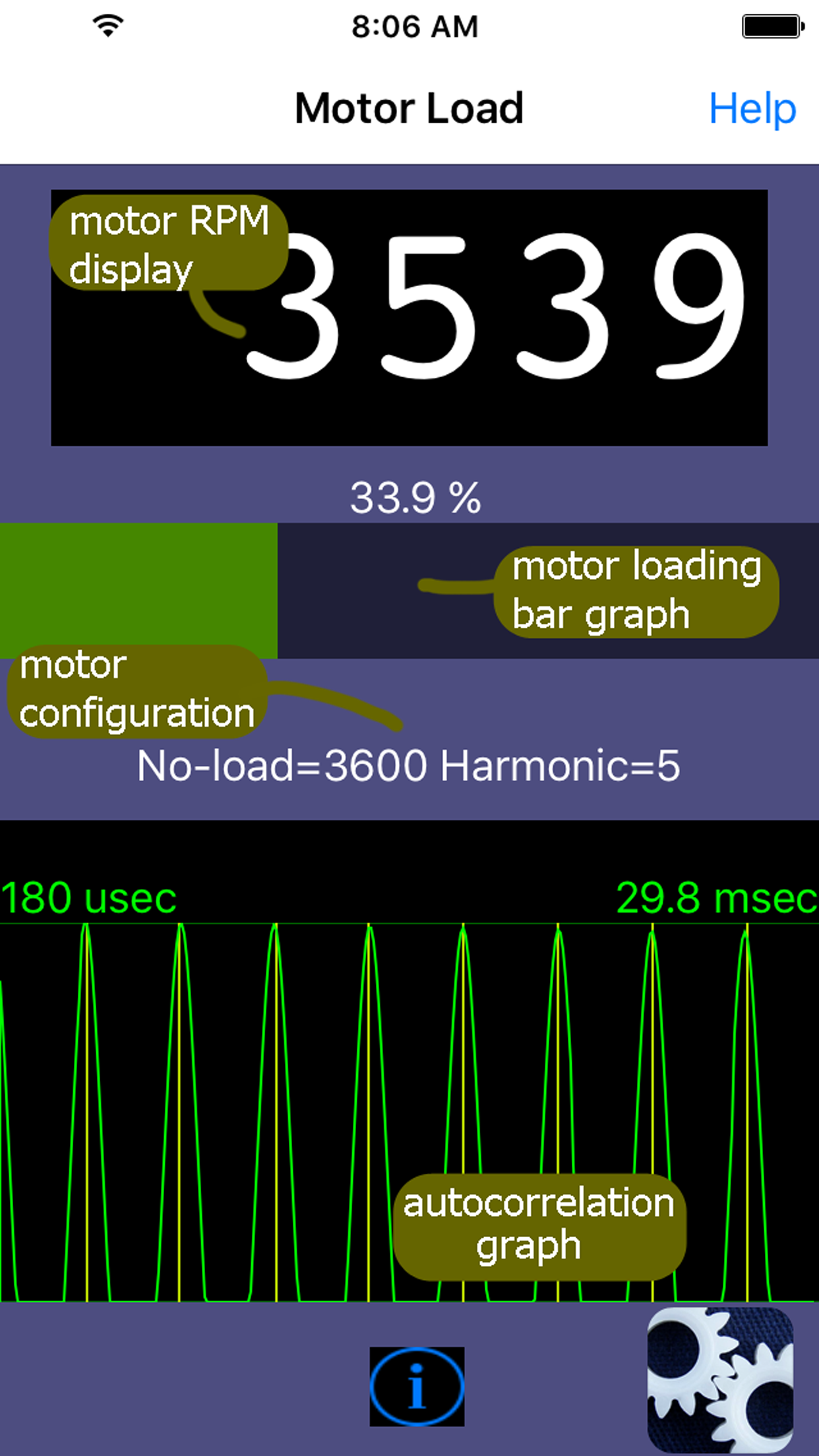 Motor Load - an iPhone app for induction motors